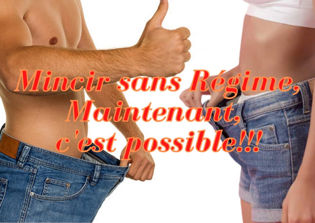 Mincir sans régime, c'est possible. homme et femme ayant perdu du poids